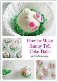 Easter Bunny Decorations To Make by How To Make Bunny Tail Cake Balls Bunny Tail Cake Ball And Bunny