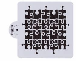 puzzle piece stencil etsy