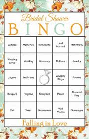 wedding words for bingo 49 best falling in bridal shower images on fall