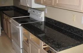 Tile Kitchen Countertops Ideas Black Granite Tile Kitchen Countertops Black Countertops Kitchen