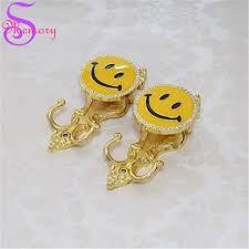 emoji robe smile rhinestones wall hooks curtain tie back ball tieback holders