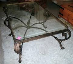 cast iron glass table cast iron and glass coffee table chopandchuck co