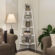 white bookcase danya b contemporary five shelf white bookcase space saving