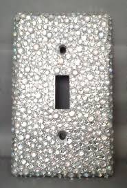 clear light switch cover bling silver glitter with clear ab rhinestone light switch cover plate