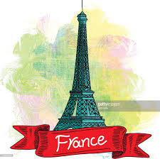 French Flag Eiffel Tower Eiffel Tower France Drawing Vector Art Getty Images