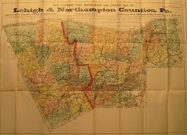 Pa Road Map Pennsylvania In Early Pocket Maps