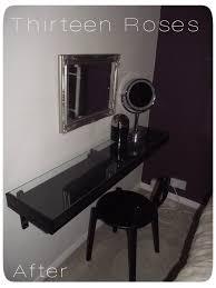 Black Vanity Table Ikea Ekby Shelf Vanity Dressing Table Ps 2012 Stool In Black