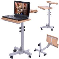 Rolling Drafting Table Amazon Com Tangkula Adjustable Wooden Laptop Table Holder Top