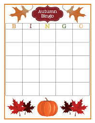 fall bingo free customizable printable the finer things in life