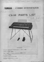 yamaha cs 80 parts service manual free download schematics