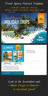 travel agency postcard template postcard template font logo and