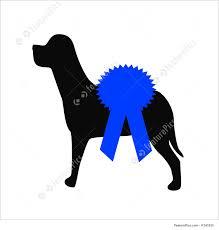 dog ribbon dog show blue ribbon illustration