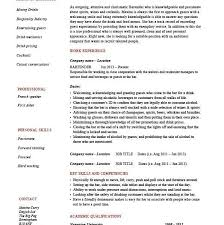 Job Description Of A Bartender For Resume by Homey Idea Sample Bartender Resume 5 Resume Hospitality Example