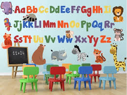 Alphabet Wall Decals For Nursery Alphabet Wall Decals Jungle Animal Wall Decals Abc Wall Decals