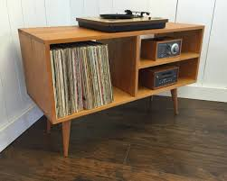 mid century console cabinet new mid century modern record player console turntable photo with