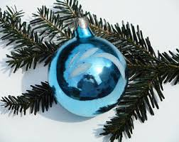 Large Blue Christmas Decorations by Vintage Ornaments U0026 Accents Etsy