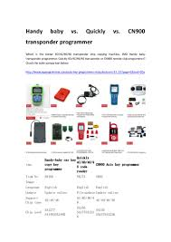 handy baby cn900 and quickly transponder programmer
