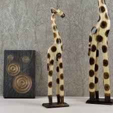 tall wooden giraffe foter