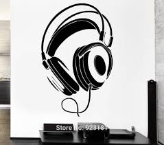 popular pop music styles buy cheap pop music styles lots from headphones rock pop music night club wall art stickers decal home diy decoration removable bedroom decor