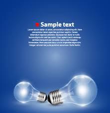 blue free light bulbs creative light bulb and blue background vector graphics 02 vector