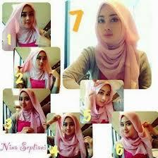 tutorial hijab segitiga paris simple cara memakai jilbab segi tiga terbaru