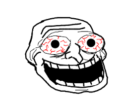 Troll Guy Meme - crazy troll face meme drawing by kewl guy