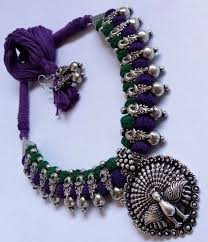 silver jewellery necklace sets images 12 best thread oxidised necklace set images silver jpg