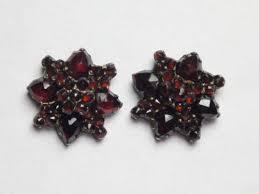 garnet earrings antique garnet earrings ebay