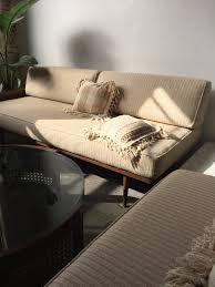 cream mid century walnut daybed sofa with cane u2014 stuff to buy