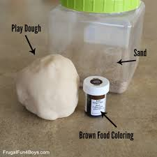 to make dirt play dough