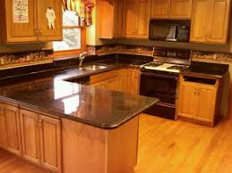 Kitchen Cabinets With Price by Honey Oak Kitchen Cabinets With Black Countertops Granite