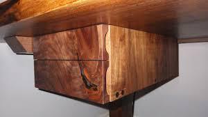 live edge computer desk reception desk built of blackened steel and live edge walnut the