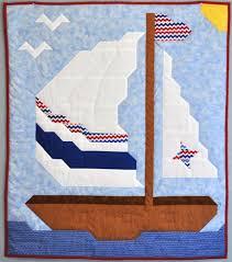 baby u0027s nautical sailboat crib quilt pdf pattern patternpile
