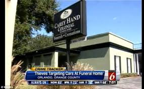 orlando funeral homes funeral home burglars thieves target cars of mourners at carey