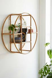 urban outfitters wall decor magical thinking rattan circle shelf magical thinking rattan