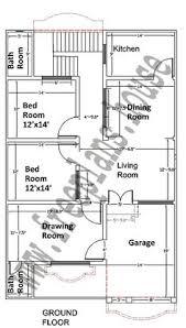 plan of a house 20x40 feet ground floor plan plans pinterest photo wall