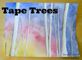 a tape tree painting tutorial and where to look for clouds