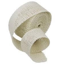jute ribbon x 10 yards wide burlap jute ribbon white