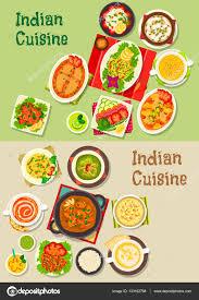 indian cuisine menu indian cuisine dishes for restaurant menu design stock vector