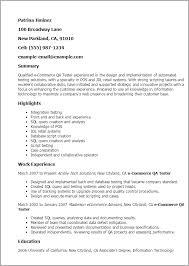 Quality Control Sample Resume by Download Qa Resume Haadyaooverbayresort Com