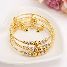 silver bead bangle bracelet images 12pcs dubai charm bracelet for women gold silver beads bangle cute jpg