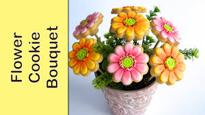 cookie bouquet cookie bouquet gerbera flower cookies how to make