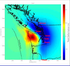 Earthquake Map Seattle by Supersites Vancouver Seattle