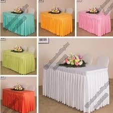 custom office table cloth set table skirt cover long check in desk
