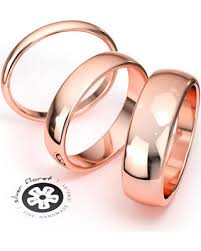 gold wedding band mens great deals on 14k solid gold band pink gold ring rounded