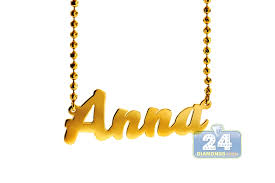 nameplate necklace custom 14k yellow gold personalized nameplate necklace chain