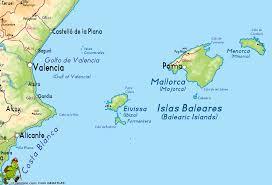 Valencia Spain Map by Islas Baleares