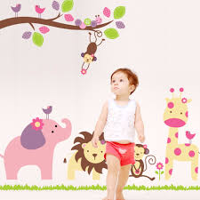 compare prices on jungle wall paper online shopping buy low price wall stickers for kids rooms jungle animals elephant giraffe wall stickers usa contemporary fun cartoon stickers