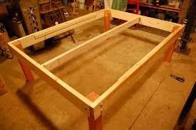 Simple Platform Bed Frame Strong Tough Platform Bed Diy 7 Step Pictures Making Wood Platform
