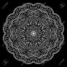 vector filigree lace ornament ornamental white mandala